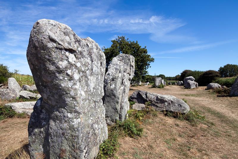 Megaliths of Kerherzo, town of Erdeven, departament of Morbihan, Brittany, France