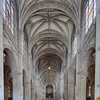 Interior of Sainte Anne Basilica, town of Sainte Anne d'Auray, departement of Morbihan, Brittany, France