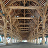17th century market hall, town of Questembert, departament of Morbihan, region of Brittany, France
