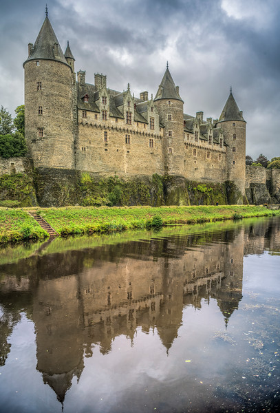 Josselin Castle (French: Château de Josselin, Breton: Kastell Josilin, Latin: Castellum Joscelini) is a medieval castle at Josselin, in the Morbihan department of Brittany, France.