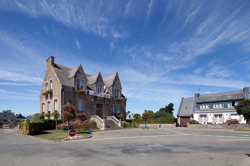 City Hall, town of Erdeven, departament of Morbihan, Brittany, France