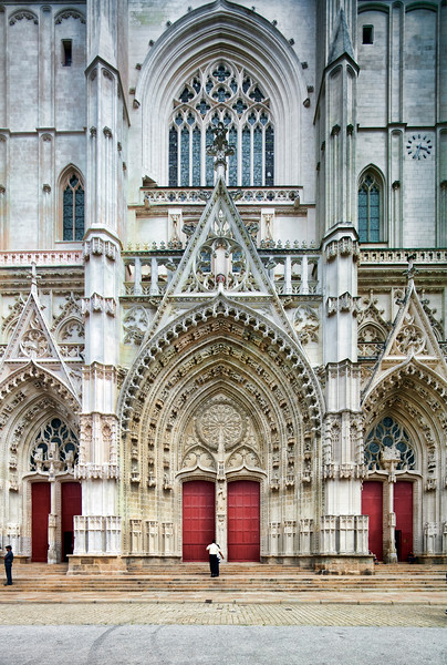 Facade of Saint Pierre Cathedral, Nantes, France