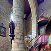 Interior of the Collegiate Church, town of Rochefort-en-Terre, departament of Morbihan, region of Brittany, France