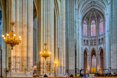 Interior of the Cathedral of St. Peter and St. Paul, Nantes, Pays de la Loire, France.