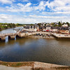 Saint-Goustan port, town of Auray, departement of Morbihan, Brittany, France