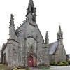Trinity (left) and Saint Servais chapels, town of Plumergat, departement of Morbihan, Brittany, France