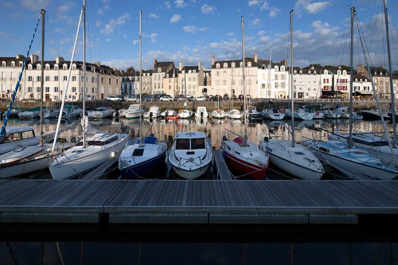 Boats at the port, town of Vannes, departament de Morbihan, Brittany, France