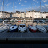 Boats at the port, town of Vannes, departament de Morbihan, Brittany, France