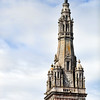 Spire of Sainte Anne Basilica, town of Sainte Anne d'Auray, departement of Morbihan, Brittany, France