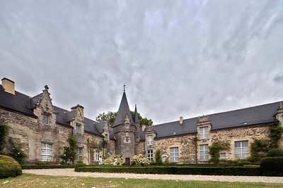 Castle of Rochefort-en-Terre, departament of Morbihan, region of Brittany, France