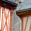 Detail of typical architecture, Vannes, department of Morbihan, region of Brittany, France