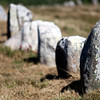 Megalithic alignment of Menec, town of Carnac, departament of Morbihan, Brittany, France