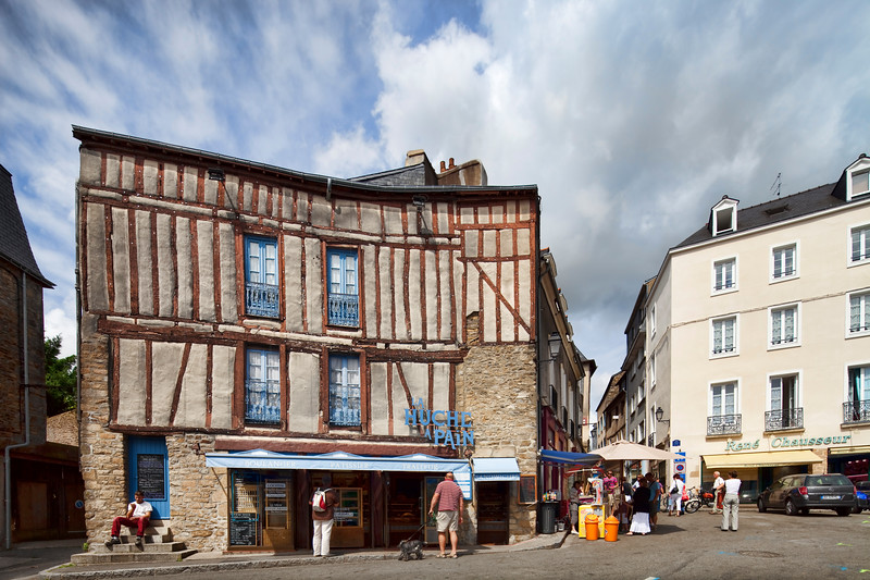 Typical houses, Vannes, Brittany, France