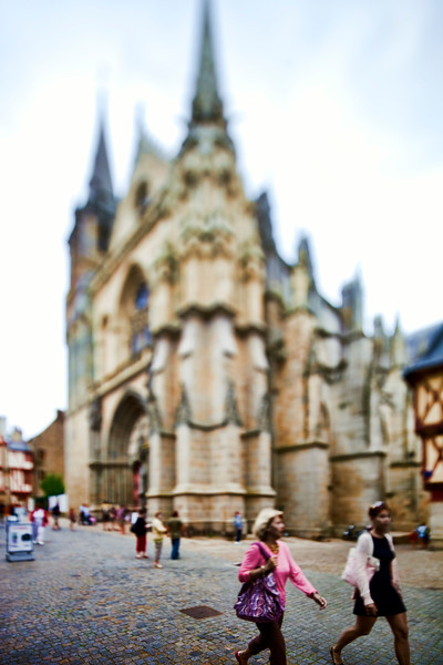 Saint Pierre Cathedral, town of Vannes, departament de Morbihan, Brittany, France. Tilted lens used for shallow depth of field.
