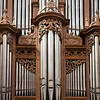 Organ, Saint-Corentin Cathedral, town of Quimper, departament of Finistere, region of Brittany, France