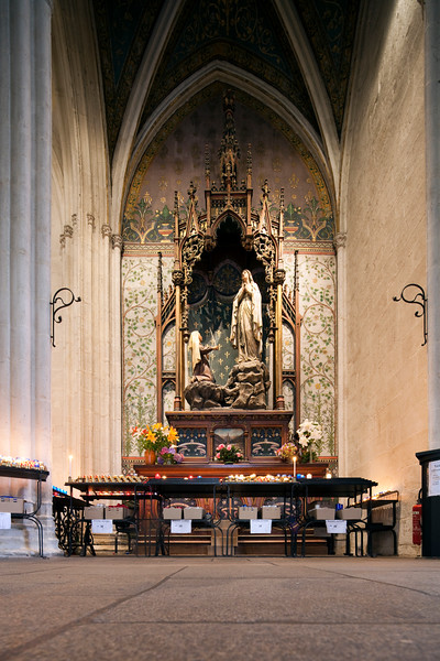 Our Lady of Lourdes, Cathedral of Quimper, departament of Finistere, region of Brittany, France