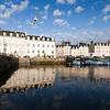 Port of the town of Vannes, departament de Morbihan, Brittany, France