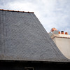 Typical slate roof, Vannes, Brittany, France