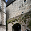 Prison gate, town of Vannes, department of Morbihan, region of Brittany, France