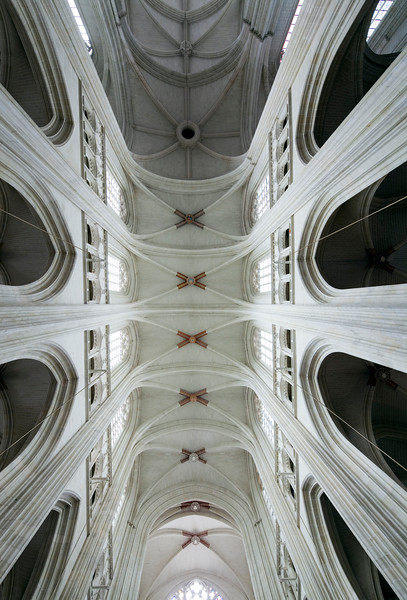 Ceiling of Saint Pierre Cathedral, Nantes, France