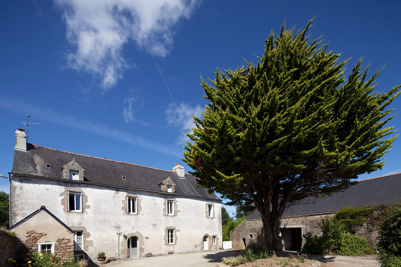 Typical house, town of Baden, departament of Morbihan, Brittany, France