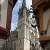 Saint Pierre Cathedral from Henry IV Square, Vannes, department of Morbihan, region of Brittany, France