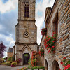 Bell Tower of the Parish Church, town of La Vraie Croix, departament of Morbihan, region of Brittany, France