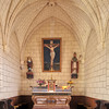 Interior of the Parish Church, town of La Vraie Croix, departament of Morbihan, region of Brittany, France