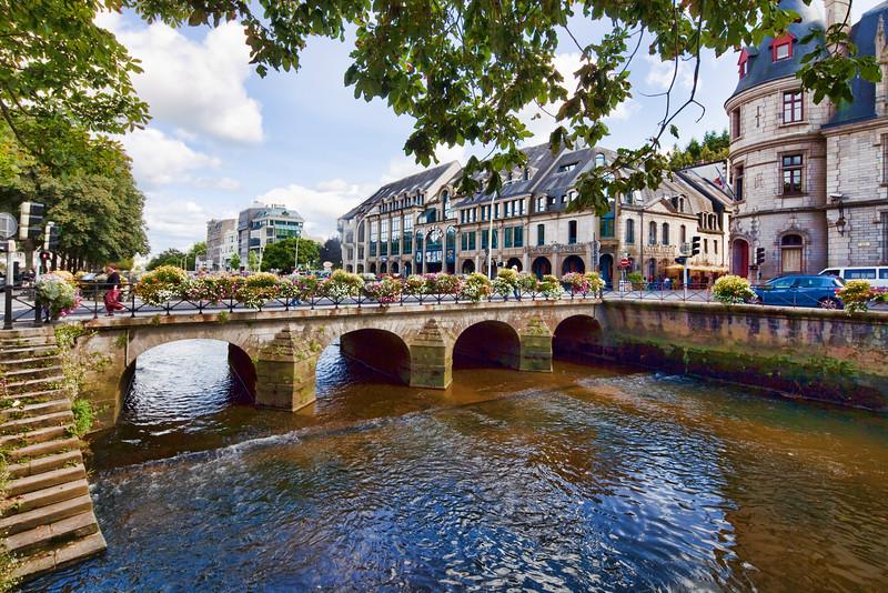 Odet river, town of Quimper, departament of Finistere, region of Brittany, France