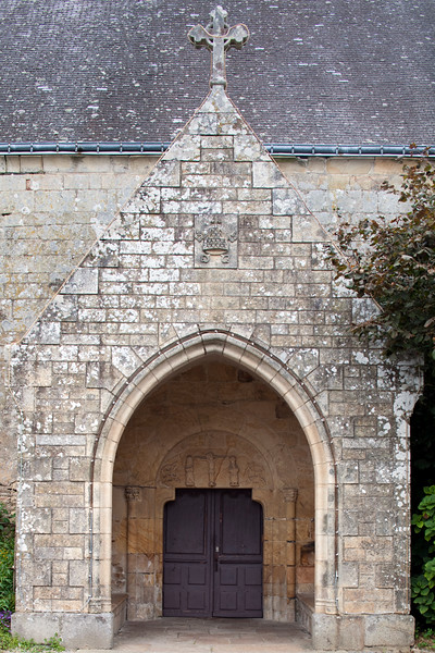 Detail from Saint Gigner church, town of Pluvigner, departement of Morbihan, Brittany, France