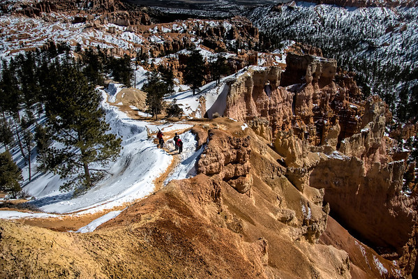 Bryce Canyon path from Sunrise Point