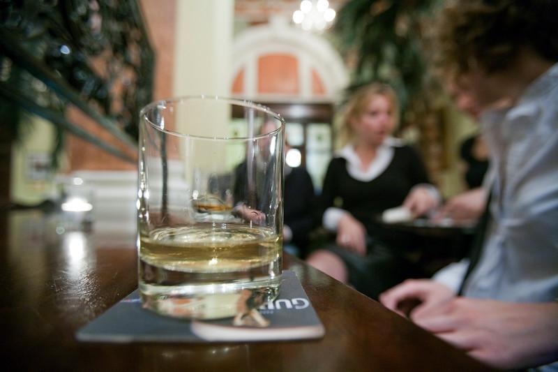 Glass of whiskey in an Irish pub, Dublin, Ireland