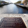 Pat Noise's commemorative plaque, O' Connell bridge, Dublin, Ireland