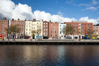 Swift's Row and Liffey River from Wellington Quay, Dublin, Ireland