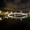 Ha'penny Bridge (Half Penny Bridge) over the Liffey river, Dublin, Ireland