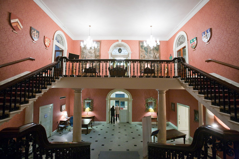 Staircase, the State Apartments, Dublin Castle, Dublin, Ireland