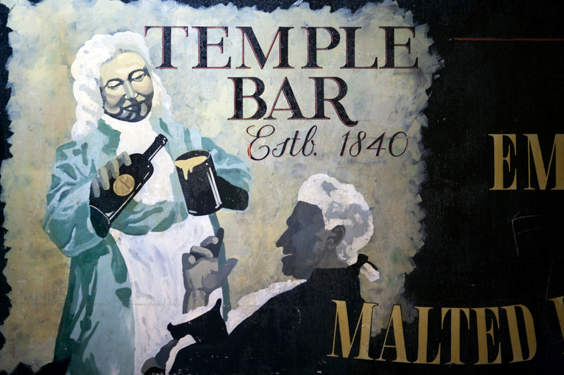 Signs from Temple Bar, Dublin, Ireland