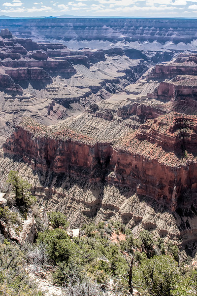 Bright Angel Canyon from the Grand Canyon North Rim