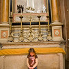 A child looking at candles, Encarnaçao church, Lisbon