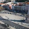Aerial view of Praça dos Restauradores, Lisbon, Portugal