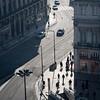 Aerial view of Primeiro do Decembro street, between Restauradores and Rossio, Baixa, Lisboa, Portugal