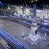Nocturnal view of Restauradores square, Lisbon