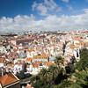 View of Lisbon from Graça viewpoint or miradouro da Graça