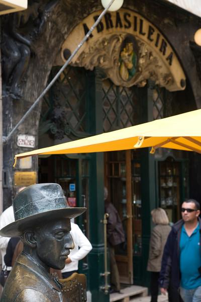 Statue of Fernando Pessoa, Cafe A Brasileira, Chiado, Lisbon