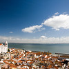 View of Lisbon from Santa Luzia viewpoint.