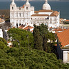 Sao Vicente and Santa Engracia churches from Saint Geroge castle, Lisbon