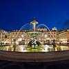 Fountain, Rossio square, Lisbon