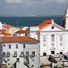 Santo Estevao church from Santa Luzia viewpoint, Lisbon.