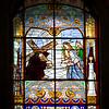 Stained glass window, Graça church, Lisbon, Portugal