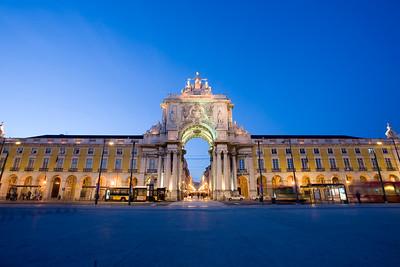 Triumphal arch, Praça do Comercio, Lisbon